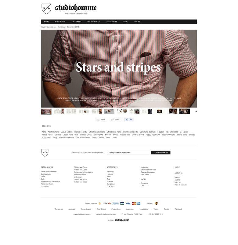 Studiohomme Website