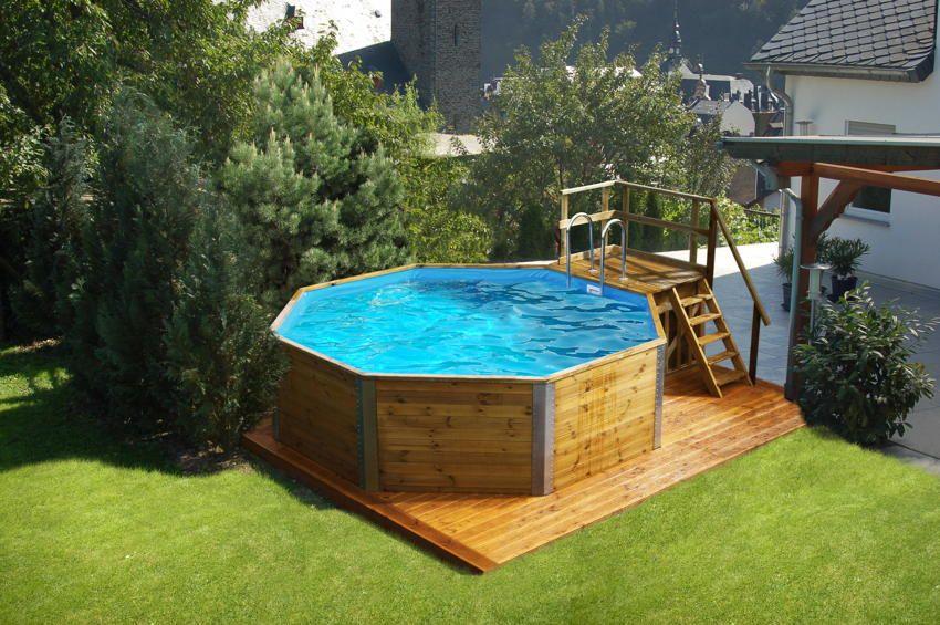 Holzpool WEKA Korsika mit Sandfilteranlage - Schwimmbecken aus Holz ...