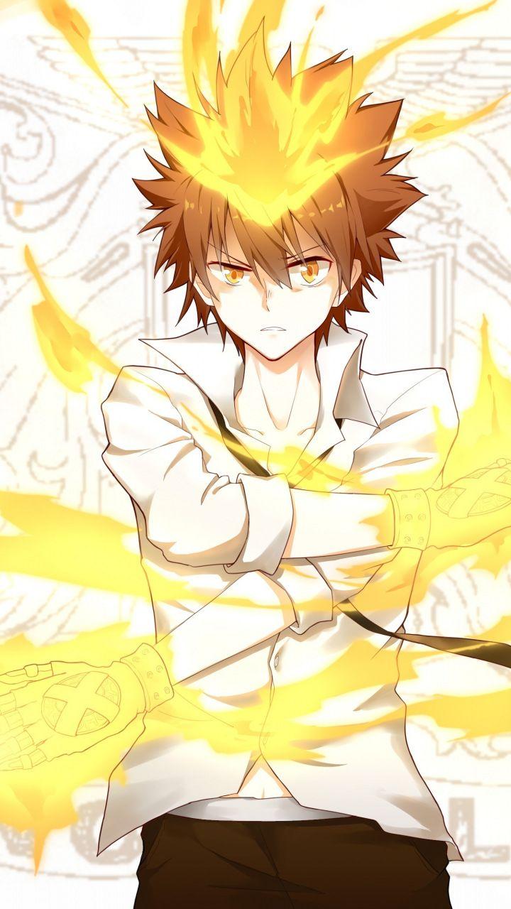 Anime, Tsunayoshi Sawada, blonde, 720x1280 wallpaper