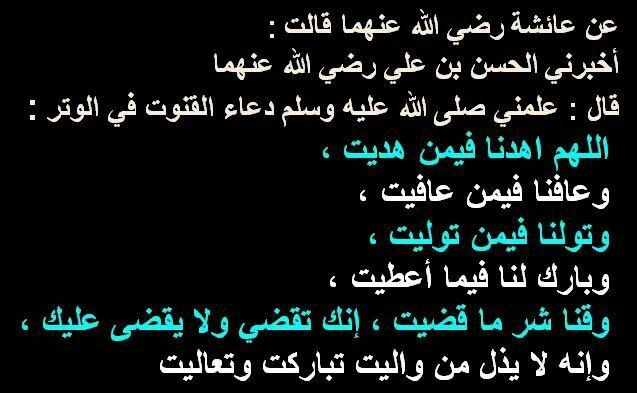 دعاء القنوت في الوتر Quran Quotes Love Quran Quotes Quotations