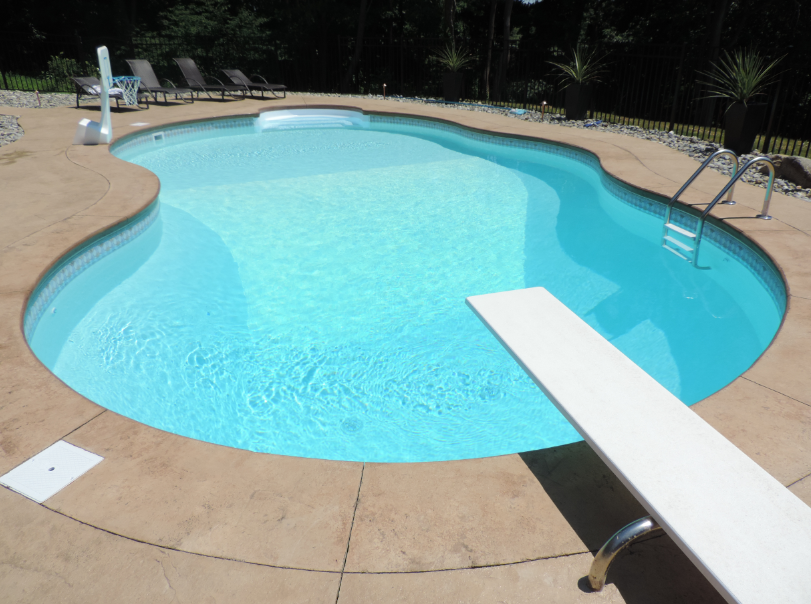 Our Moonstone Pearlessence 174 Pool Liner Brings The Beach Home In 2019 Pool Liners In Ground Pools Fence