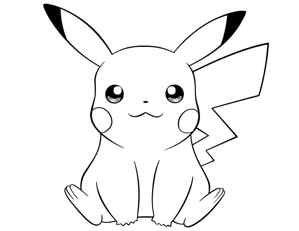 Pokemon Coloring Page Of Pikachu Pikachu Coloring Page