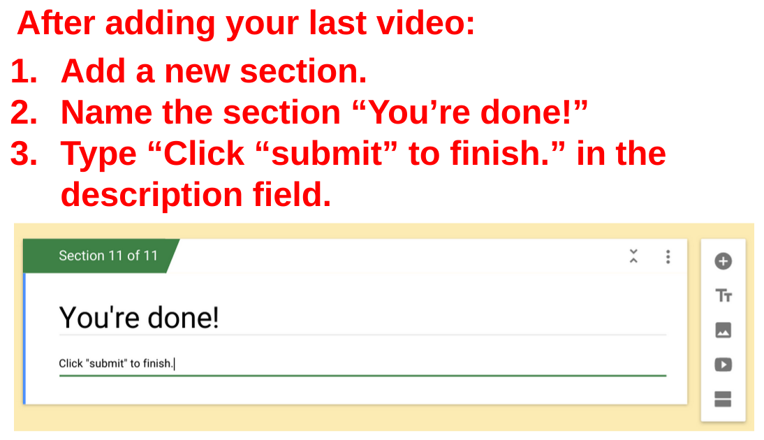 Impossible to fail quiz in Google Forms