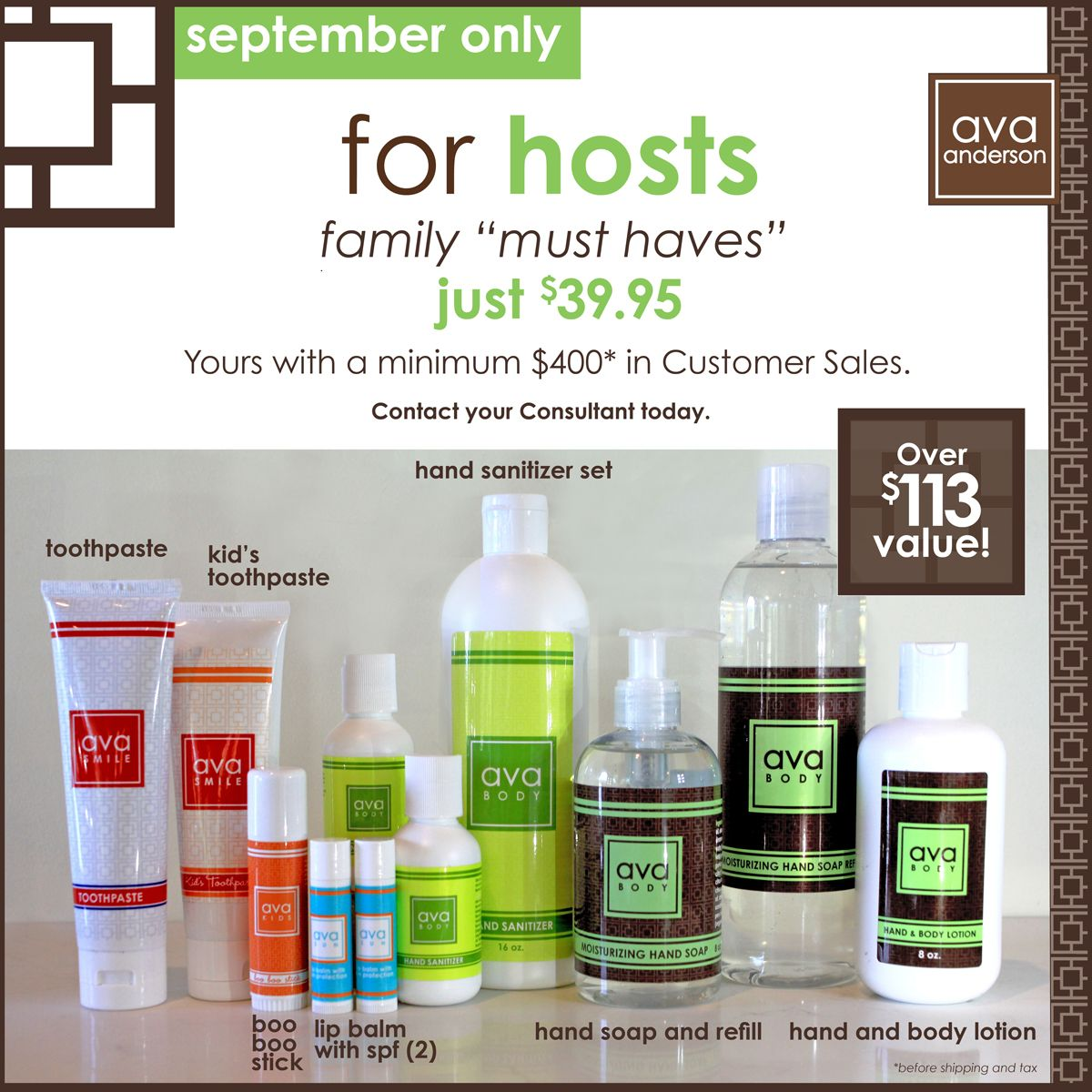 September Only Special For Hosts Family Must Haves Avaanderson