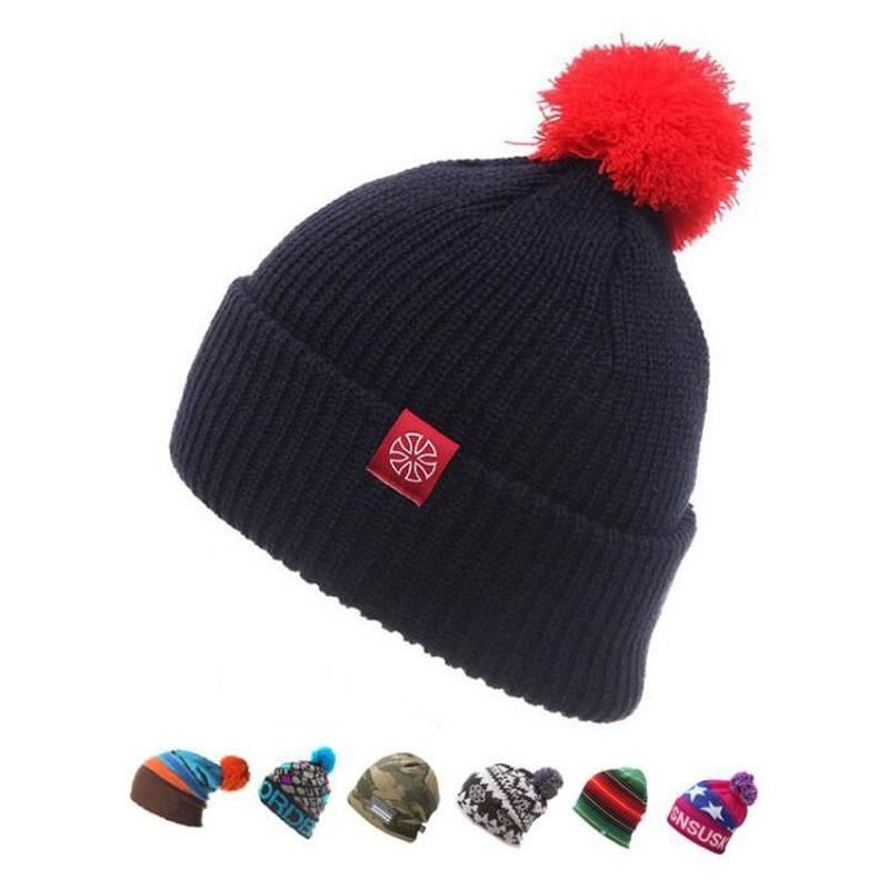 ce0486a7874 Winter Ski Hat Warm Knitted Acrylic Woolen Caps For Men Hats Female Beanies  Skullies Quality Snowboard Beanie Hat Free Shipping