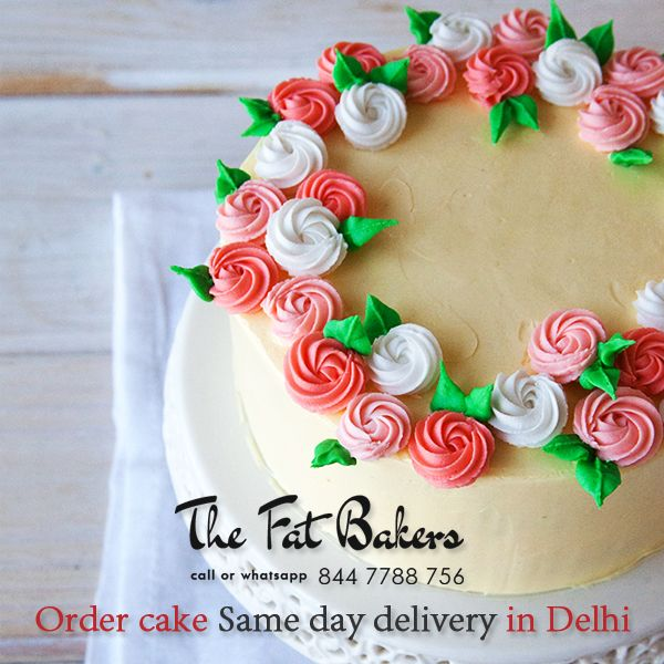 Order Cake Online in Delhi From The Fat Bakers Best Price Same