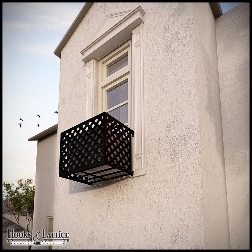 Lattice Iron Air Conditioning Cover / Window Guard Air