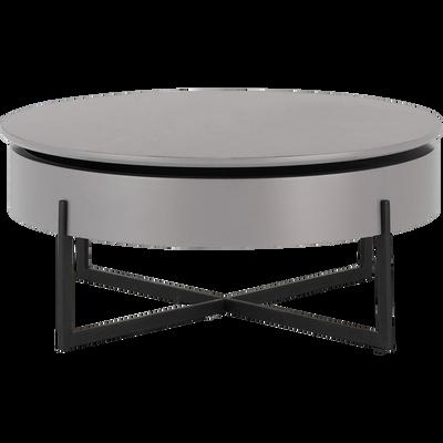 Table Basse Ronde Gris Borie Avec Plateau Rotatif Alinea En 2020 Table Basse Ronde Table Basse Et Table Basse Moderne