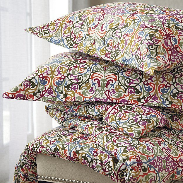Lucia King Duvet Cover Crate And Barrel Bed Decor Beautiful