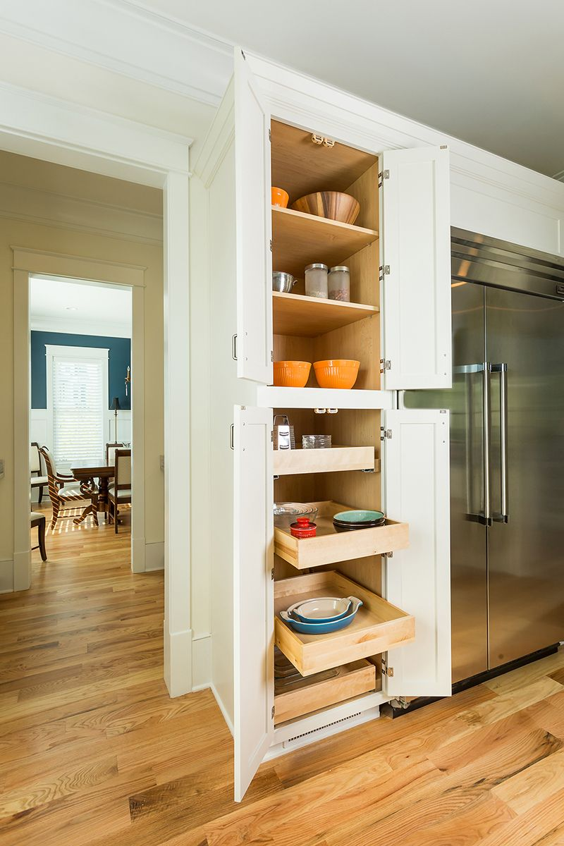 Marvelous Image If Lower Pantry Cabinet Opened To Display Roll Out Trays With A Few  Produce Items On Them And Text 5 Best Ideas For Kitchen Storage And  Organization