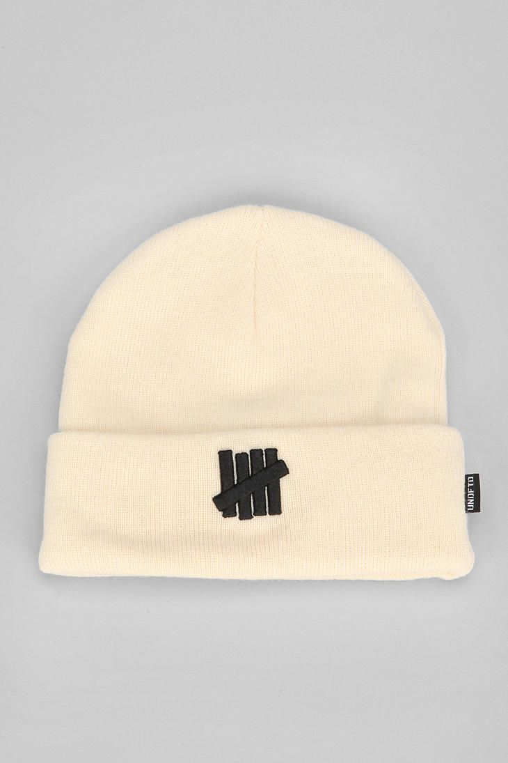 Undefeated 5 Strikes Combat Beanie Beanie Logo Embroidered Undefeated