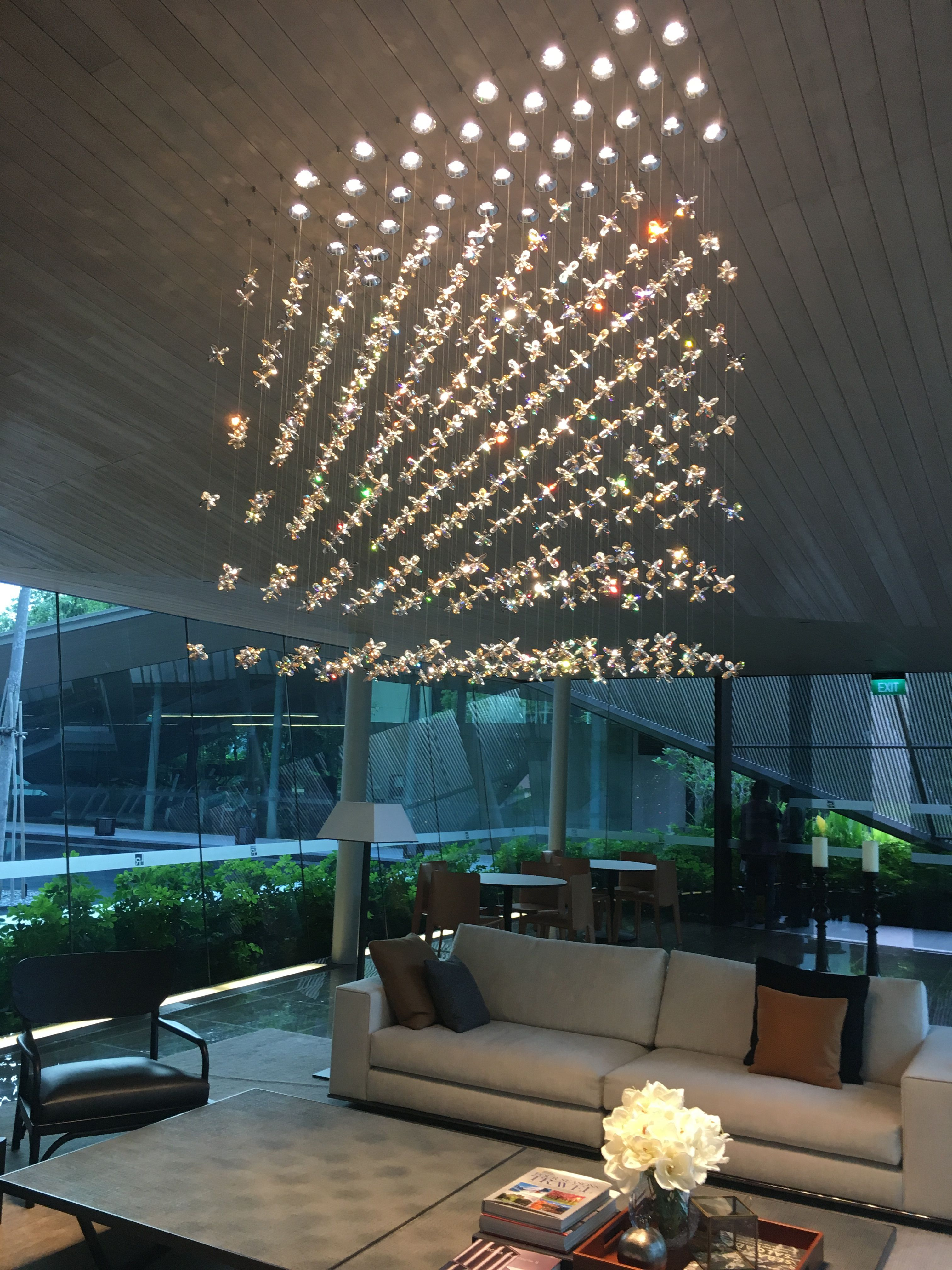 Windfall chandeliers the flower chandelier at leedon residences windfall chandeliers the flower chandelier at leedon residences clubhouse arubaitofo Choice Image