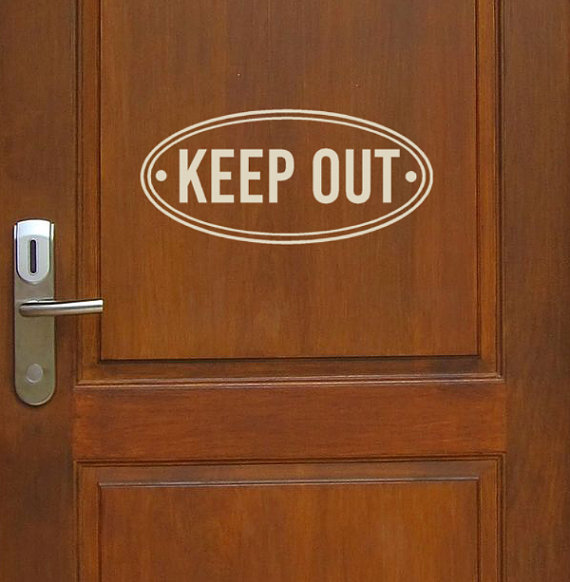 Keep Out Vinyl Wall Decal Door Decals Windows Decals Office - Window decals for office doors