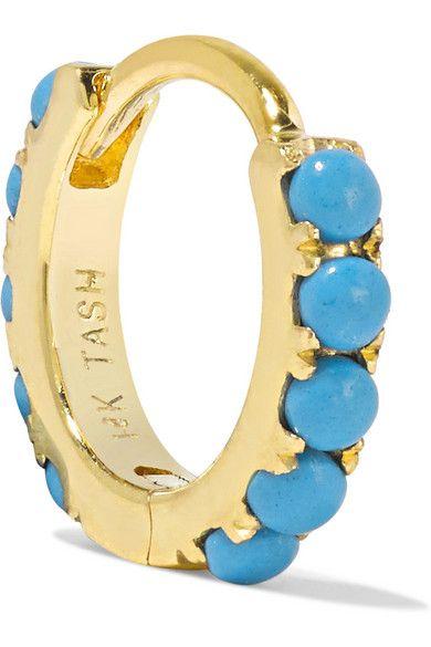 Turquoise Eternity 14kt white gold earring Maria Tash cFN1KLTqzx