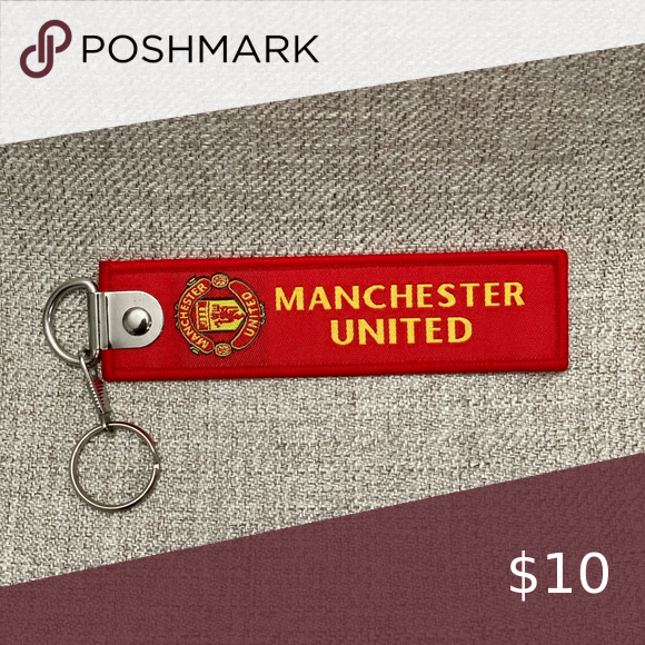 Manchester United Fabric Keychain Red Material Fabric Key Ring Dimension 3 Cm X 15 Cm Manchester United Accesso Manchester United The Unit Manchester