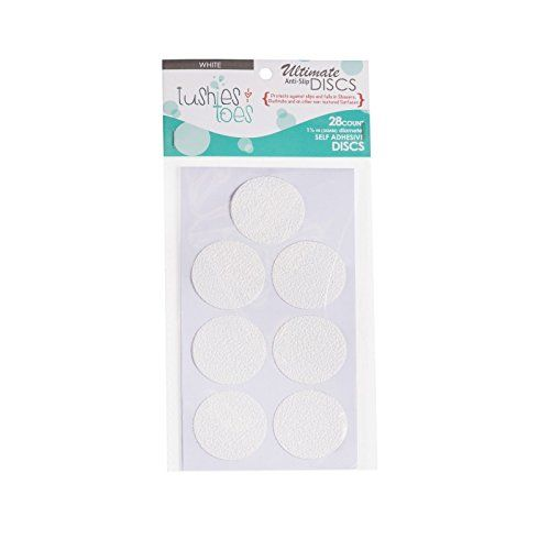 Non Slip Bathtub Mats Slippery Surface Bath Tub Anti Slip Discs   Non Skid  Adhesive Shower Stickers Appliques Treads Bathroom Accessories (White 2    Pack)