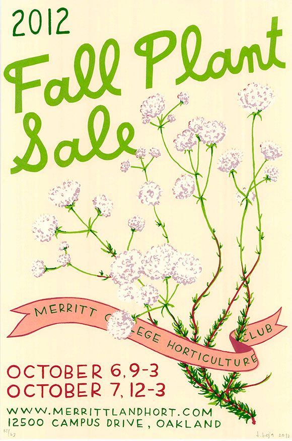 This Weekend-Fall 2012 Plant Sale East Bay Pinterest Plant - fall flyer