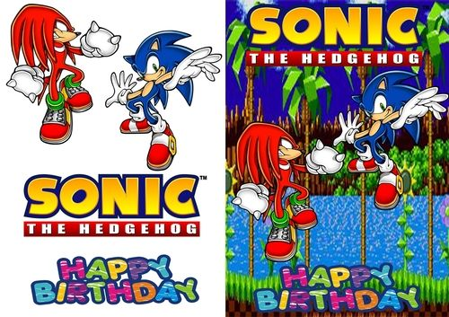 Sonic Birthday Card By Lucas Smith Sonic And Knuckles In Green Hill