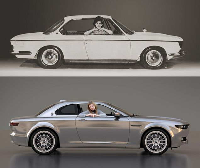 Stunning Bmw Cs Vintage Concept Tribute Shows Old 1960s Design Still Works Today Carscoops Bmw E9 Bmw Concept Car Vintage Concepts