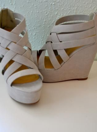 658446eee376 Gray Wedges  heels for bridesmaids -  Paige Hereford Hereford Williams