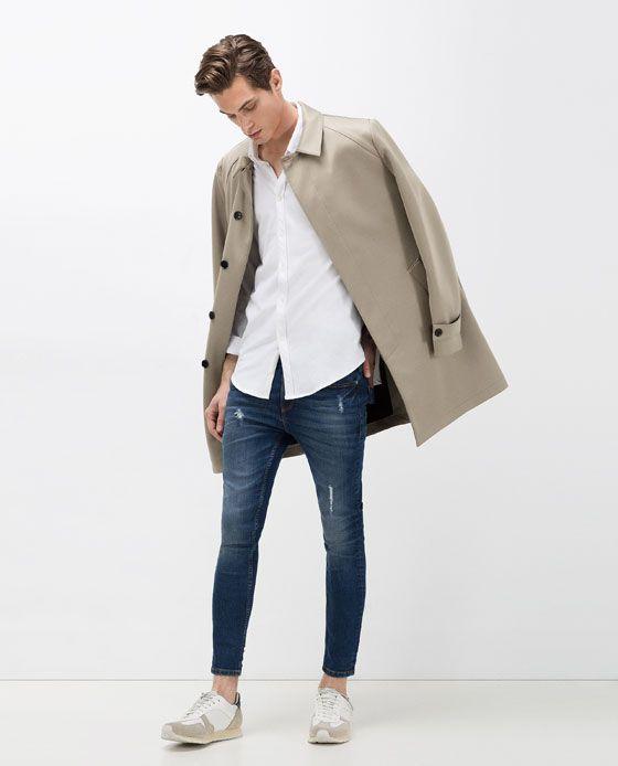 Immagine 1 Di Pantaloni Denim Skinny Carrot Di Zara Pantalones Vaqueros Hombre Ropa De Hombre Y Moda Hombre