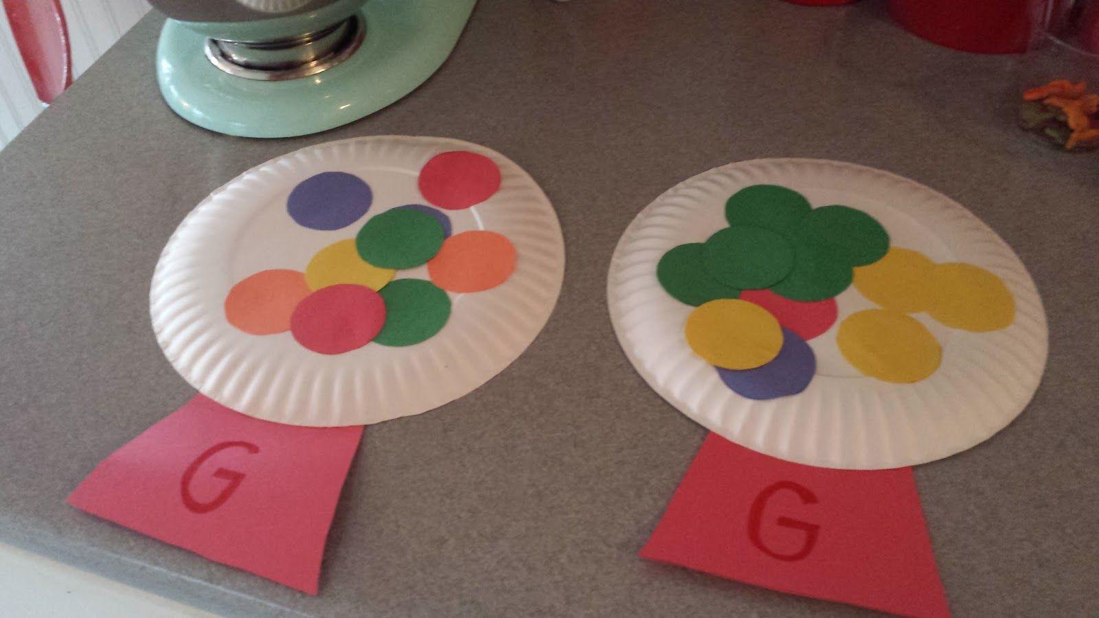 Letter g crafts preschool and kindergarten letter g for Arts and crafts for daycare