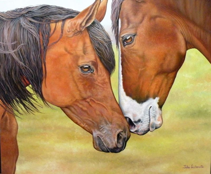 Horses Oil Painting Horse Realism New Framed Original Equine ART by ...