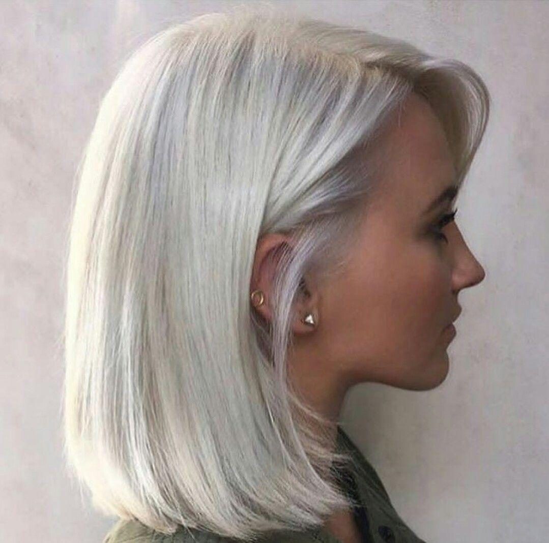 Short Platinum Hair Ice Blonde Hair Silver Hair Color Platinum Blonde Hair