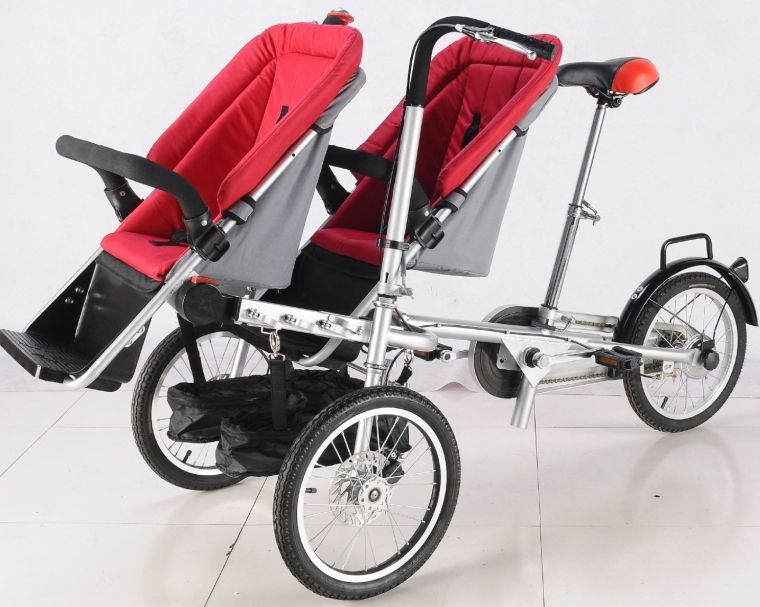 3 Wheels Taga Bike Stroller 2 Seats 16inch Pushchair Mother Baby ...