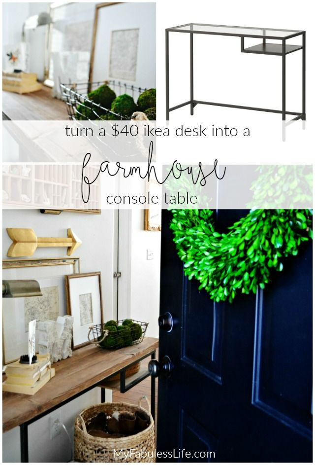 Ikea Vittsjo Hack A Farmhouse Entryway Table | My Fabuless Life