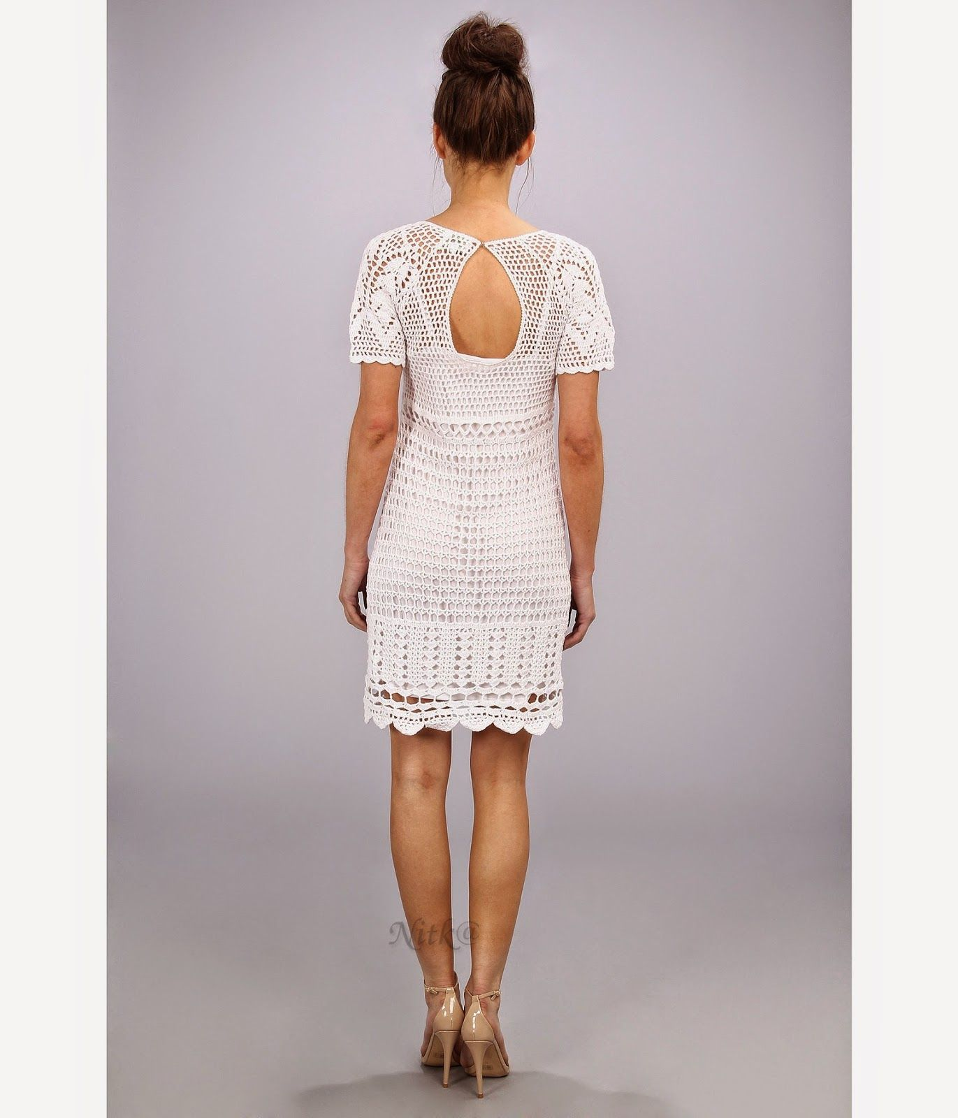 Vestido branco de crochet nice designs patterns and crochet