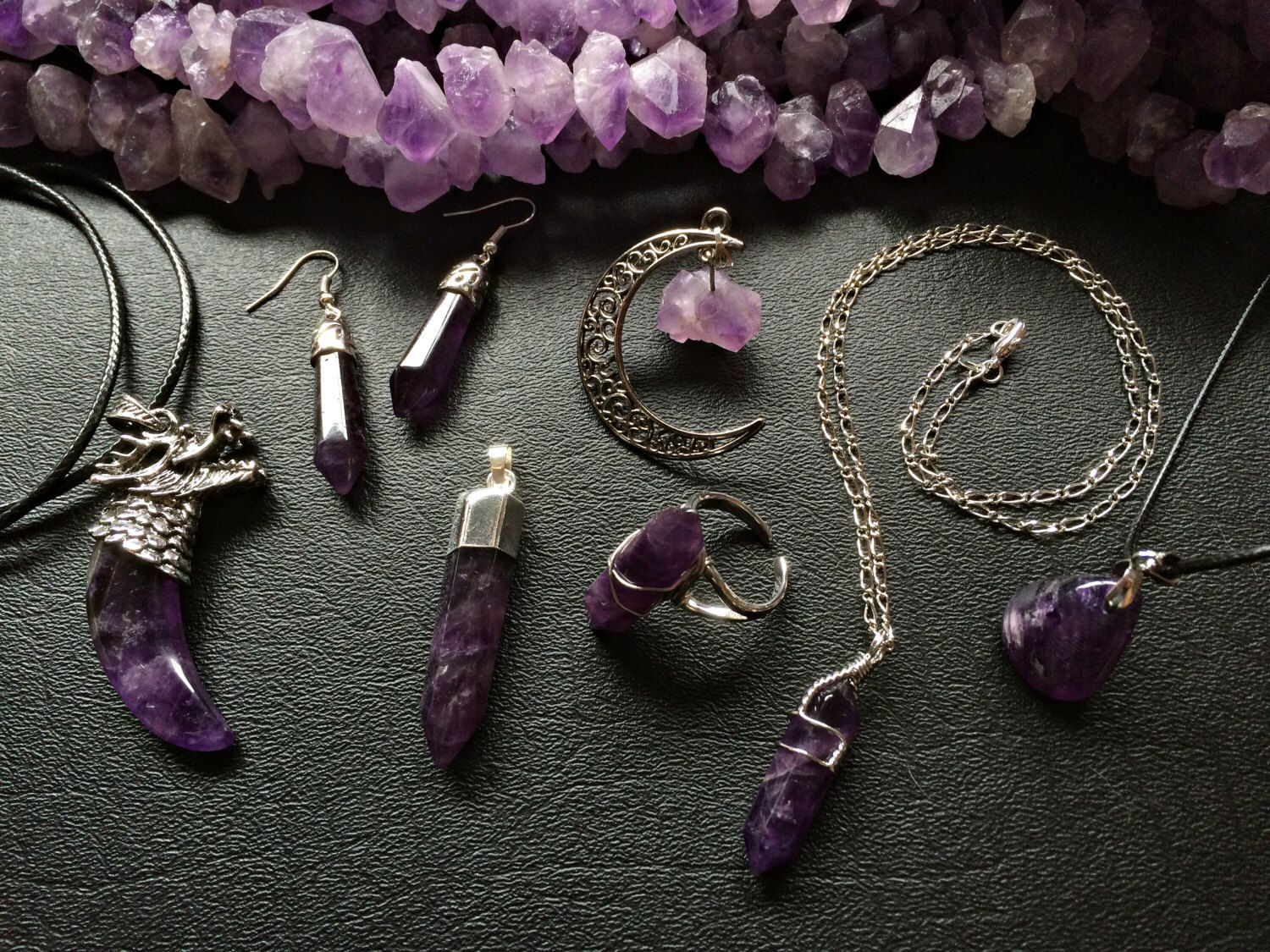 A personal favorite from my Etsy shop https://www.etsy.com/listing/272212120/amethyst-crystal-jewelry-crystal