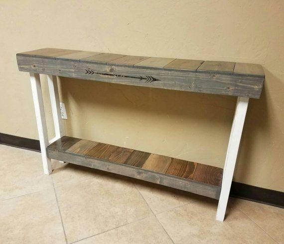 Farmhouse Console Table Reclaimed Wood Rustic