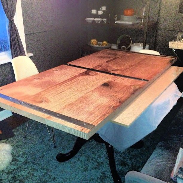 diy industrial dining table - Google Search