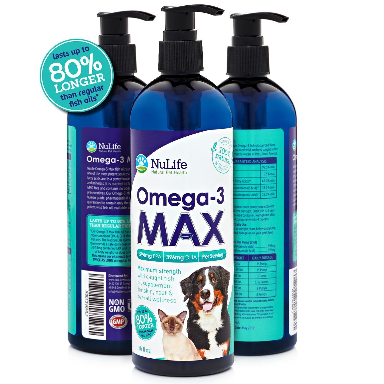 NuLife Natural Pet Health Max Strength Omega 3 For Pets
