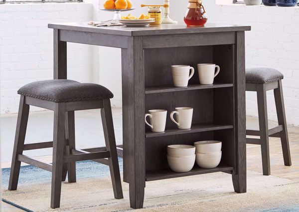 Best Caitbrook 3 Piece Counter Height Table Set Gray In 2020 400 x 300