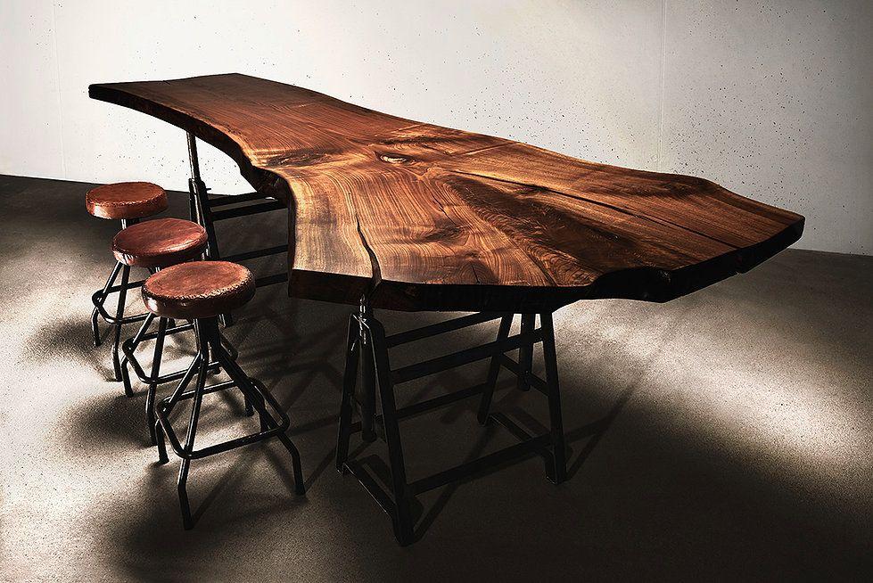 baumtisch holztisch umverleimt aus einem st ck nussbaum diy und selbermachen pinterest. Black Bedroom Furniture Sets. Home Design Ideas