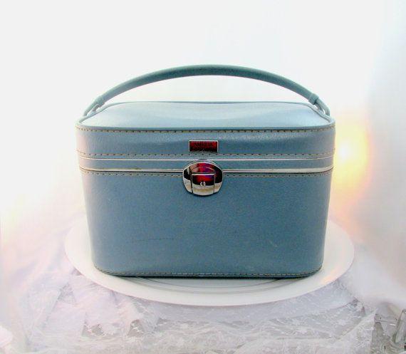 Vintage #VogueTeam Train Travel Case Frost Blue Signed Amelia ...
