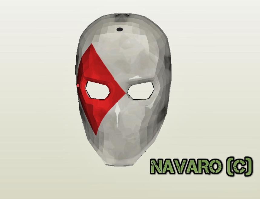 Wild Card Mask Template Fortnite Mask Eva Foam Pepakura Wild Card Pepakura Cosplay Diy