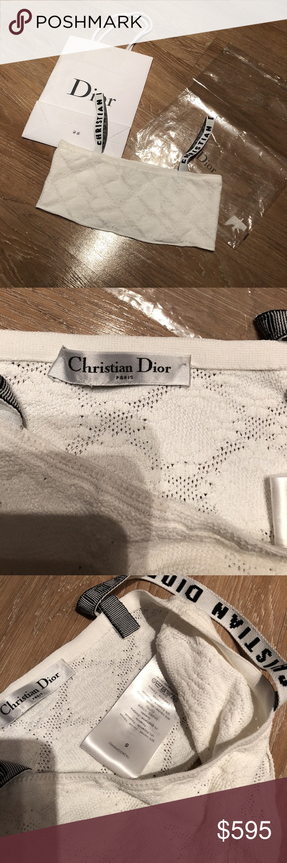 fd0ac7fbbdc06 💕Christian Dior J adior Bralette White Small💕 Christian Dior J adior  white bralette. Purchased from a reputable second hand site. Size small.  Dior Tops