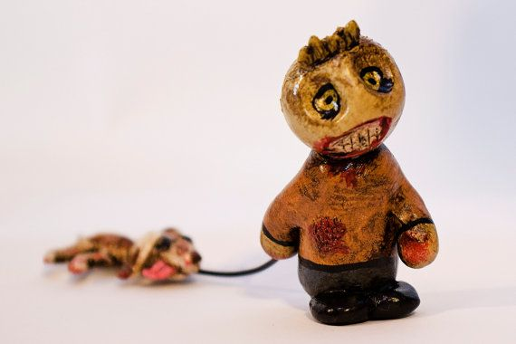 Zombie And His Dog by EvilWerks on Etsy