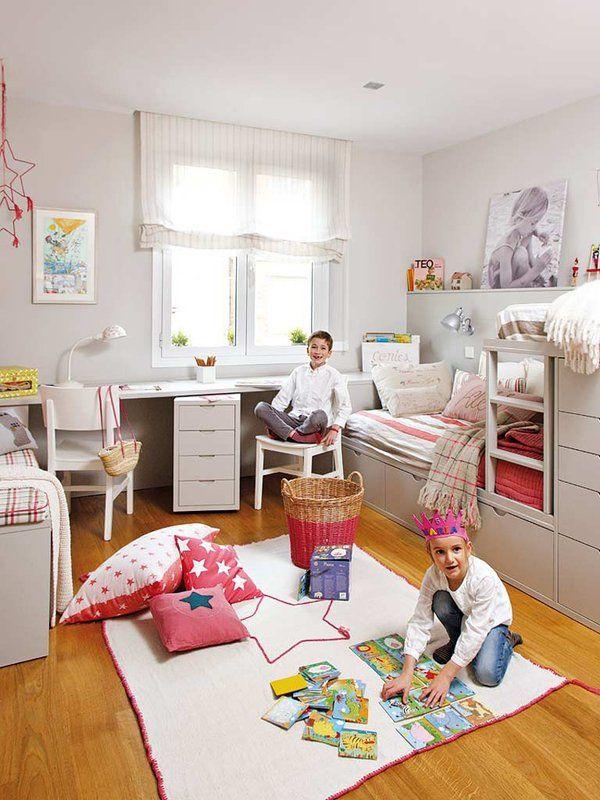 Un dormitorio en colores neutros para ni o y ni a for Dormitorios infantiles nino