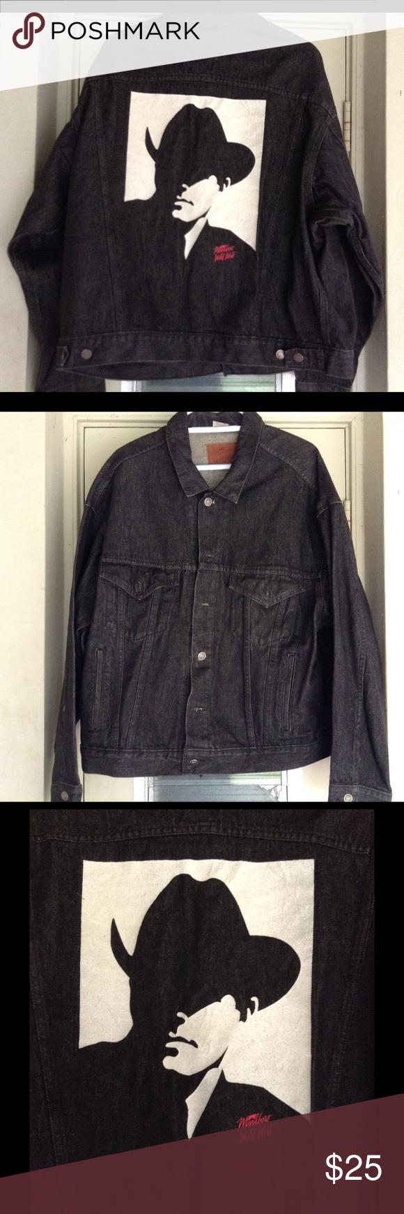Men's Marlboro man denim jacket Men's black Marlboro man Wild West denim jacket. Jackets & Coats