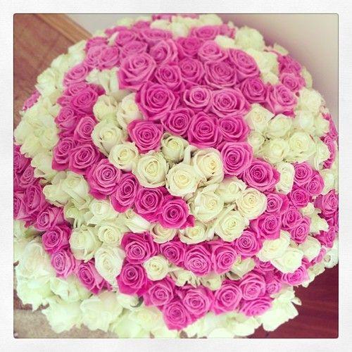 Rosen #Rosenmeer #weiß #pink #roses #Blumenstrauß #fleur #flowers ...