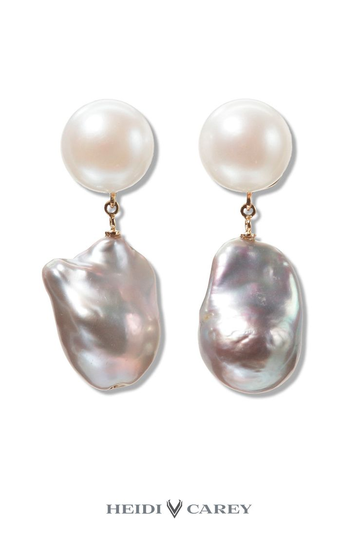 3e80eb4a0cd4c Grey Baroque Pearl Drops | Heidi Carey Collection - Handcrafted Fine ...