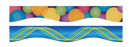 Circles & Ribbons Double-Sided Magnetic Borders| Dowling Magnets   $16.99