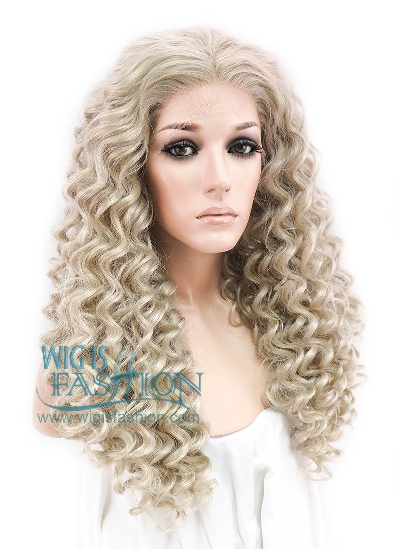 24 Long Spiral Curly Light Ash Blonde Made To Order Lace Front