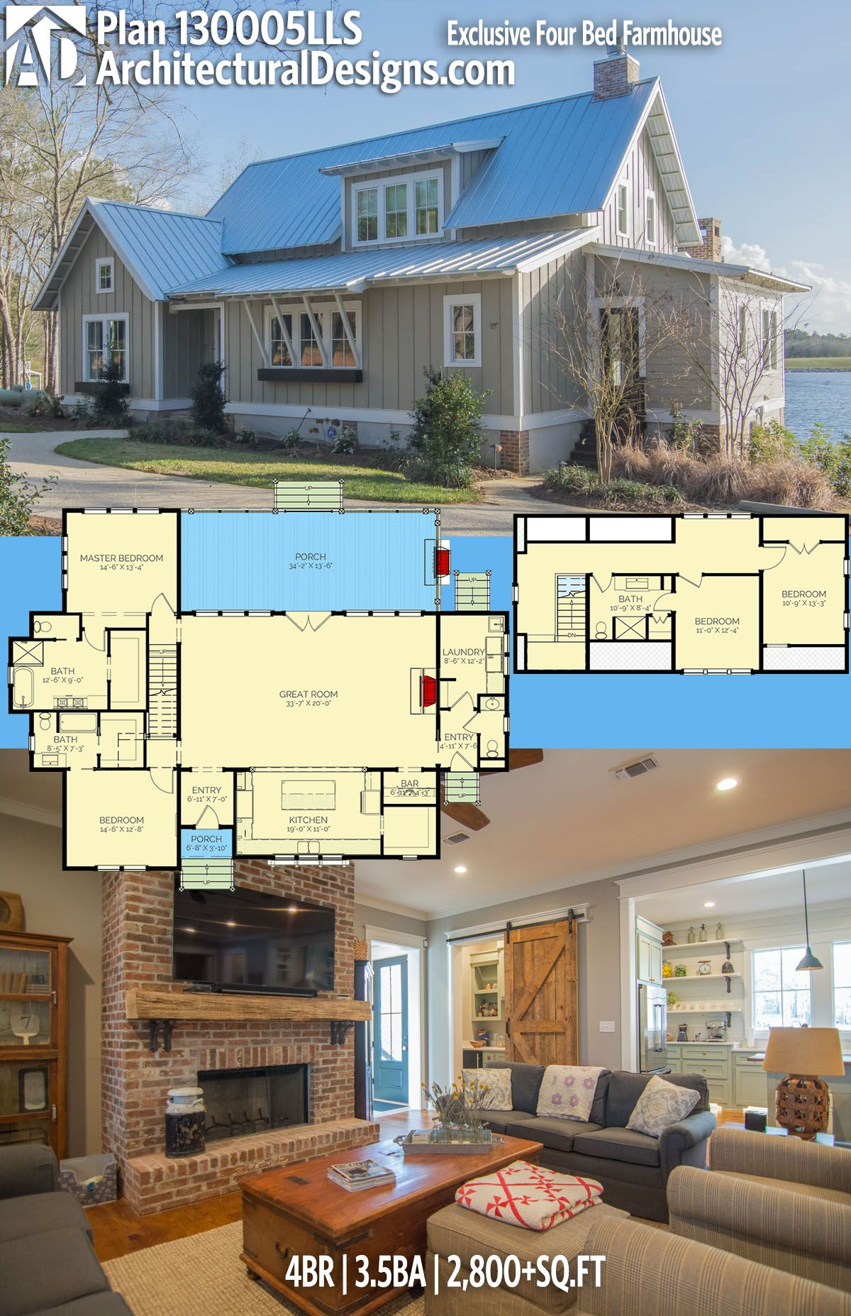 Plan LLS Exclusive Four Bed Farmhouse in For the Home