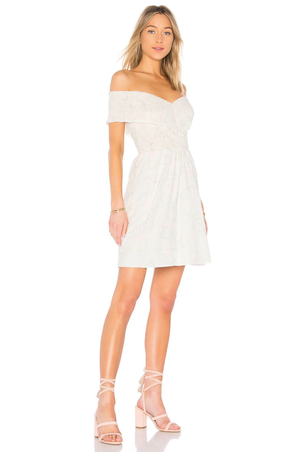 c35341bda6f3b2 Endless Rose Off the Shoulder Dress in Off White