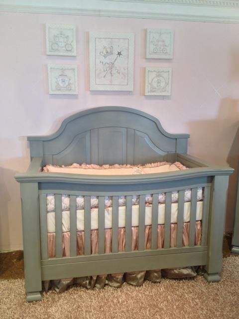 Vintage Grey Sugar Crib By Baby S Dream Www Georgiababy With Custom Bedding Pine Creek